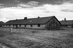 Part of Auschwitz Concentration Camp,Barracks  in a concentratio Royalty Free Stock Image