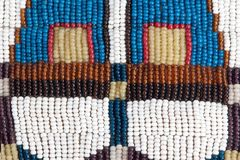 Part of authentic Indian beaded collar. Texture. Stock Photography