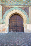 Part of the Bab el-Mansour gate, Morocco Stock Images
