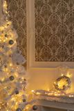 Part of the baroque christmas-style room. stock photography