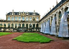 Part of the Zwinger Palace in Dresden stock photos