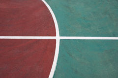Part of a basketball court Stock Photo