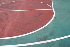 Part of a basketball court Stock Photography