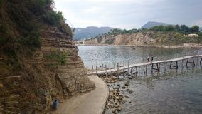 Part of the beach in Laganas, Zakynthos Stock Images