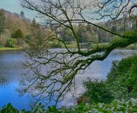 English country house garden at Stourhead Stock Photography