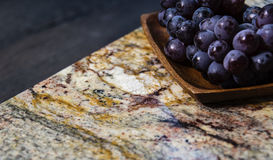Part of beautiful kitchen countertops. Kitchen marble and granite worktops, counters, countertops Royalty Free Stock Image