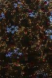 Part of beautiful shining christmas trees Royalty Free Stock Photos