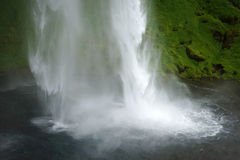 Part of beauty big Seljalandsfoss waterfall - South of Iceland Royalty Free Stock Images