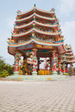 Part of beautyful Chinese shrine. And the blue sky, Chonburi- East of Thailand royalty free stock images