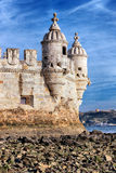 Part of Belem Tower Royalty Free Stock Photos