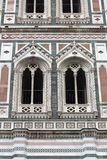 Part of Bell Tower of Duomo, Santa Maria del Fiore, Florence Stock Photos