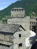 Part of Bellinzona Castles in Switzerland Royalty Free Stock Photos