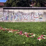 Part of Berlin Wall on Bernauer Stra�e, Mitte, Berlin, Germany Royalty Free Stock Photos