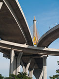 Part of Bhumibol Bridge Stock Photo