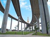 Part of Bhumibol Bridge. Bhumibol Bridge also casually call as Industrial Ring Road Bridge, Samut Prakarn,Thailand Royalty Free Stock Image