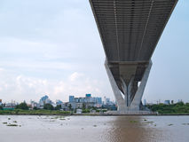 Part of Bhumibol Bridge Royalty Free Stock Images
