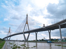 Part of Bhumibol Bridge Royalty Free Stock Photos