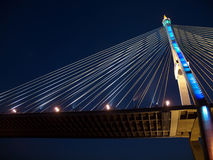Part of Bhumibol Bridge Stock Photography