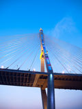 Part of Bhumibol Bridge Stock Photography