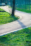Part of bicycle path Stock Photo
