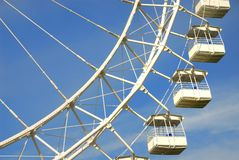Part of a big dipper in attraction park. Big dipper in attraction park Royalty Free Stock Image