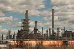 Part of a big oil refinery. Royalty Free Stock Photography