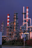 Part of a big oil refinery at night Royalty Free Stock Photography