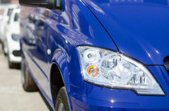 Part of the blue car headlight large Stock Images