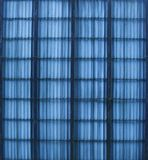 Part of a blue colored fence Stock Photos