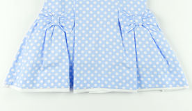Part of blue dress Stock Images