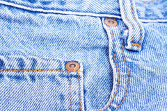Part of blue jeans Stock Images