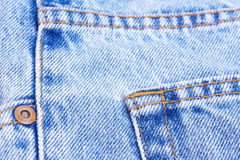 Part of blue jeans Royalty Free Stock Image