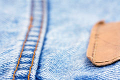 Part of blue jeans Stock Photos