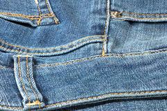 Part of blue jeans. Stock Photos
