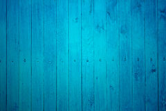 Part of blue wooden fence Stock Photos