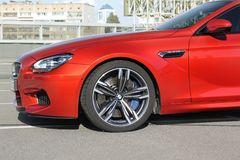 April 18, 2014; Ukraine, Kiev; Part of the BMW M6. Speedway. stock photography