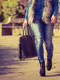 Part body of fashionable woman Royalty Free Stock Images