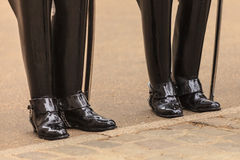 Part of body, solider horse guards boots in UK Royalty Free Stock Photo