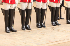 Part of body, solider horse guards boots in UK Stock Image
