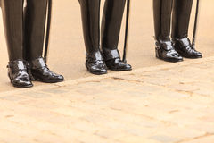 Part of body, solider horse guards boots in UK Royalty Free Stock Images