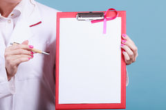 Part body specialist with folder. Stock Photo