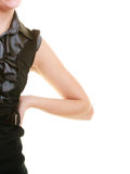 Part of body woman with backache back pain. Stock Photos
