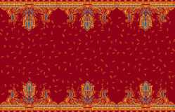 Part border paisley style Stock Photography