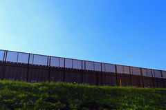 US-MEXICO Border Wall. A part of border wall between San Diego of America and Tijuana of Mexico royalty free stock images