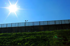 US-Mexico Border Wall. A part of border wall between San Diego of America and Tijuana of Mexico royalty free stock photography