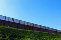 US-MEXICO Border Wall. A part of border wall between San Diego of America and Tijuana of Mexico stock photography