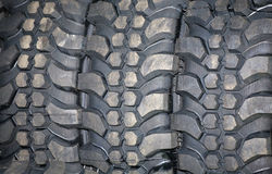 Part of brand new car tyre Stock Image