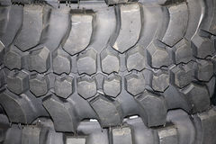 Part of brand new car tyre Royalty Free Stock Image