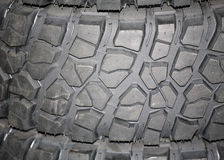 Part of brand new car tyre Stock Photos