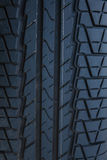 Part of brand new modern car tyre. Stock Photos